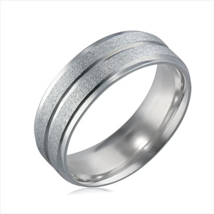 Aliança de alumínio reta anatômica de 6mm fosca