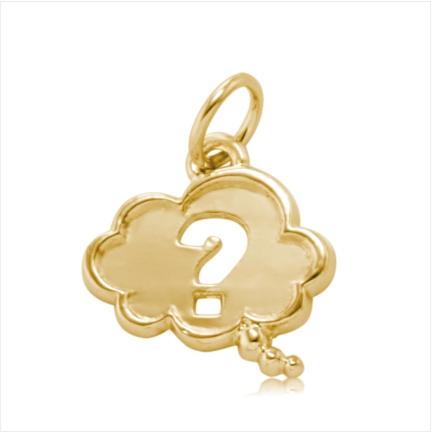 Pingente / Berloque de Formatura em ouro 18 k  750 Pensamento  - Curso: Psicologia