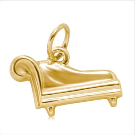 Pingente / Berloque de Formatura em ouro 18 k  750 Divan  - Curso: Psicologia