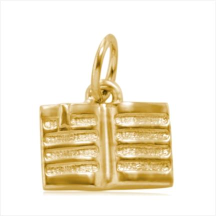 Pingente / Berloque de Formatura em ouro 18 k  750 Livro  - Curso: Pedagogia