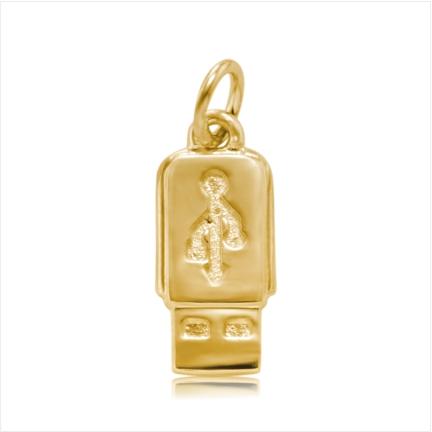 Pingente / Berloque de Formatura em ouro 18 k 750 Pen Drive - Curso: Ciência Comp./ Análise Sist