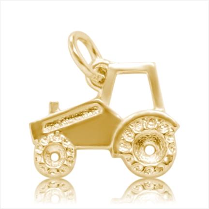 Pingente / Berloque de Formatura em ouro 18 k  750 Trator  - Curso : Agronomia