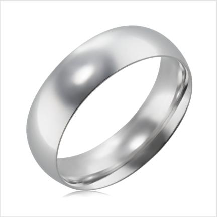 Aliança de alumínio abaulada anatômica 6mm