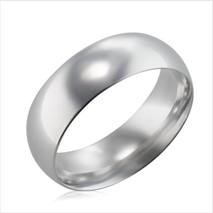 Aliança de alumínio abaulada anatômica 7 mm